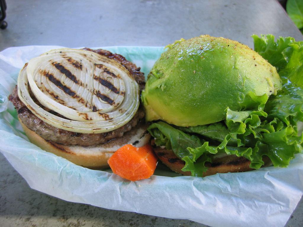 hamburger avocado